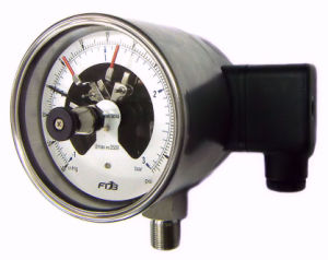 IP65 Electrical Contact Pressure Gauge Panel Mount (DPG/DPS/PT-75)