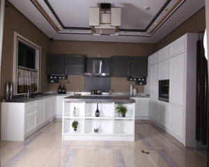 Best Selling Simple Oak Solid Wood Kitchen Cabinet pictures & photos
