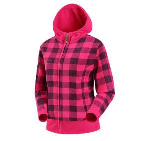 Good Quality Lady Print Hooded Polar Fleece Jacket pictures & photos
