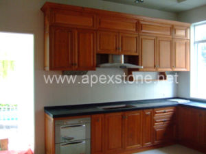 Kitchen Cabinet With Black Granite Countertop