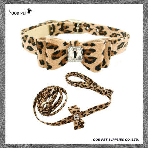 Leopard Bow Deco Pet Collar and Lead Set (SPC7233) pictures & photos