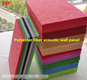 Soundproof Wall Polyester Fiber Acoustic Panel Decoration Panel Board Sheet pictures & photos