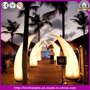 Inflatable Lighting Tusk for Wedding Event Decoration
