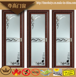 Aluminium Hinged Doors for Interior Bathroom Decoration with Flowers pictures & photos
