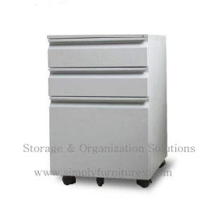 Modern 3 Drawer Steel Mobile Cabinet / Movable File White (SI6-LCF3W) pictures & photos