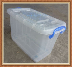 Singapore 40L Clear Plastic Box for Storage with Wheels Supplier pictures & photos