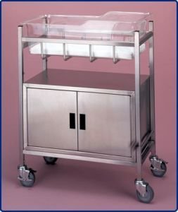 Stainless Steel Hospital Bassinet with Cabinet (THR-B003) pictures & photos