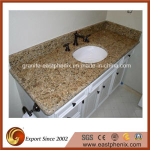 Venetian Gold Granite Vanity Top for Bathroom pictures & photos