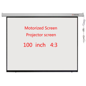 Electric 100 Inch 4: 3 High-Definition Projector Projector Screen pictures & photos