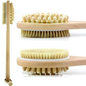 Bath Blossom Natural Bristle Bath Body Brush - Exfoliating Scrub Brush - Effective for Wet and Dry Body Brushing - Long Handled pictures & photos