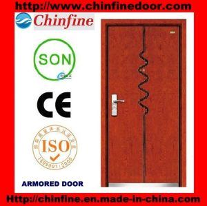 2017 New Designsteel-Wood Armored Doors (CF-M028) pictures & photos