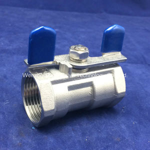 "1/2"" BSPT Thread Butterfly Handle 1 Piece Ball Valve pictures & photos"