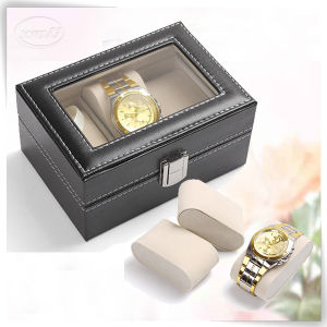 Decorative Factory Branded Luxury Leather Box Watch for Man