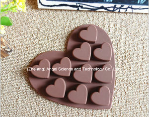 Hot Sale Silicone Chocolate Mold Heart Silicone Ice Mold Cube Tray Si01 pictures & photos