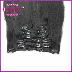 Cheap Clip in Hair Extensions, 100% Virgin Hair, Top Quality Clip Hair pictures & photos