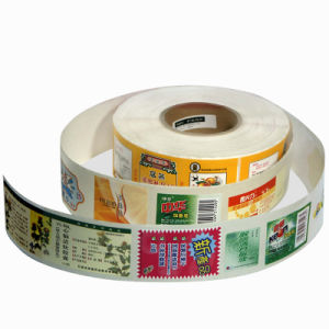 Rotary Printing Self-Adhesive Sticker Label pictures & photos