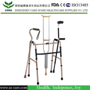 Rehabilitation Therapy Supplies Medical Equipment Folding Lightweight Aluminum Disabled Walker Crutch and Walking Aids pictures & photos