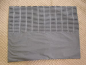 Shutter Pleats Solid Grey Sham pictures & photos