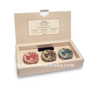 Scented Soy Candle Tin Set in High End Cardboard Box Packaging