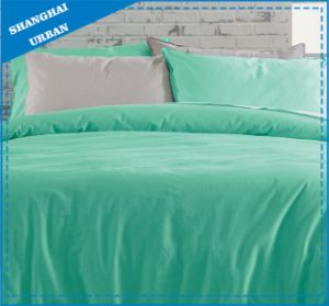 Vintage Washed Green Solid Cotton Bedsheet Set pictures & photos