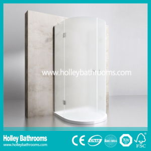 Hinger Door Ground Glass Circular Double Doors Selling Simple Shower Enclosure (SE713M) pictures & photos