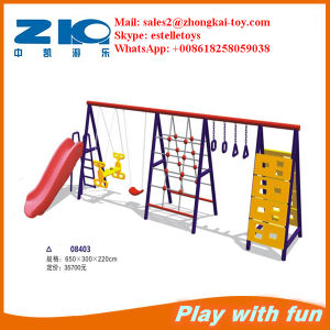 Hot Sale Children Playground Plastic Slide with Swing on Sell pictures & photos