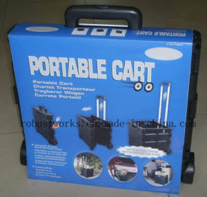 Plastic Portable Folding Cart (FC403K-2) pictures & photos