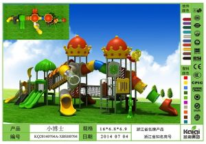 Kaiqi Large Castle Children′s Playground with Slides, Tunnels and Ornamental Toppers (KQ20140704A-XBSH0704) pictures & photos