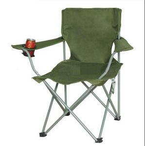 Fishing Chair with Cup Holder & Armrests, Outdoor Chair Portable, Comfortable Camping Chair /Beach Chair