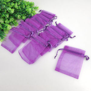Purple Organza Bag in Size 5X7 China Factory Wholesale pictures & photos