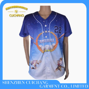 Custom Made Sublimation Printing Baseball Jersey pictures & photos