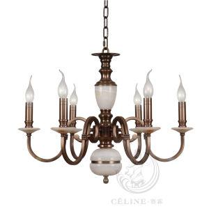Chandelier with Marble, Golden Iron Pendant Lighting Fixture (SL2260-6)