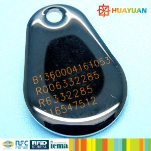Supermarket Membership Management ISO14443A RFID PVC FM08 Epoxy Keytag pictures & photos