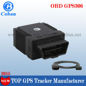Plug & Play OBD II GPS GPRS GSM Car Tracker GPS306 From Coban Factory for SMS Tracking on Cellphone with a Google Map Link pictures & photos