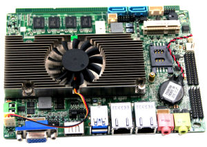 3.5 Inch Fanless Celeron 1037u Embedded PC Motherboard pictures & photos