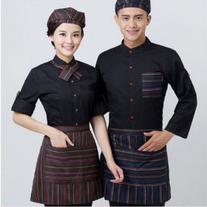Chinese Factory Provide Chef Coat Waiter Uniform Western Modern Restaurant Uniforms pictures & photos