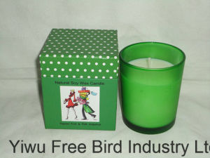 Multi-Colored 100% Healthy Scented Soy Wax Glass Candle pictures & photos