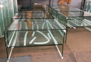 Tempered Hot Bending Glass Tea Table / Plasma TV Stands pictures & photos