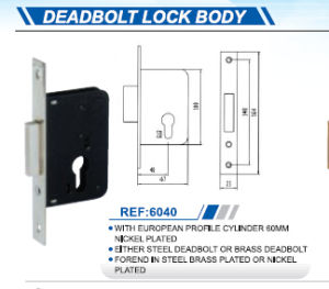 High Quality Deadbolt Lock Body pictures & photos