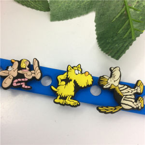 2016 Newly Popularly Cartoon Silicone Customised Wristbands pictures & photos