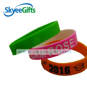 Luminous Silicone Wristbands, Rubber Glow pictures & photos