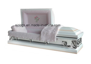 White Shaded Pink Finish Casket pictures & photos