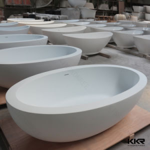 Kkr Small Size Solid Surface Freestanding Bathtub for Sale pictures & photos