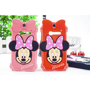 Customized Dimond Mickey Silicone Phone Case for iPhone 5/6/6plus