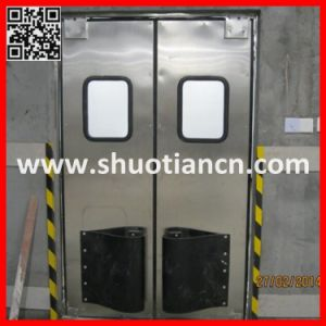 Commercial Stainless Steel Kitchen Swinging Door (ST-006) pictures & photos
