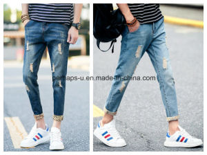 Men′s Thin Denim Pantyhose Slim Hole Jeans pictures & photos