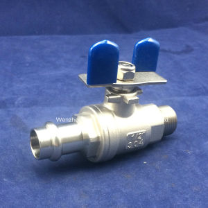 Male & Entrapment Pipe End 2PC Ball Valve with Butterfly Handle pictures & photos