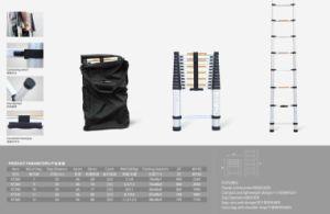 Aluminium Telescopic Single Straight Ladder pictures & photos