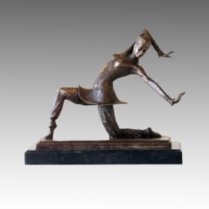 Dancer Bronze Sculpture Lady Carmona Deco Brass Statue TPE-177