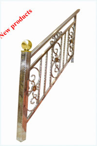 Stainless Steel Pattern /Embossed Pipe for Handrail (JH-T2100) pictures & photos